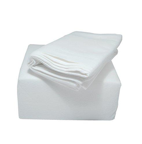 Franela Juego de ropa de cama Indulgence gama, algodón, Blanco, Single Fitted Sheet 90x190cm