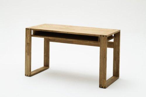 Robas Lund Jasmin mit Ablage Schreibtisch, Eiche, braun, 82 x 63 x 22 cm -