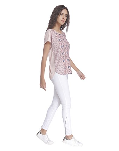Vero Moda Vmdonna SS Top Box Jrs, T-Shirt Donna Multicolore (Peach Whip)