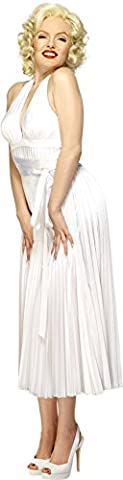 Smiffy's Women's Marilyn Monroe Classic Costume, Halterneck Dress,Color: White, 27428