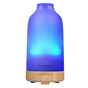 E-PRANCE G2 100ml Aroma Diffuser Ultraschall Luftbefeuchter Duft Diffuser mit LED Farbwechsel, Glas
