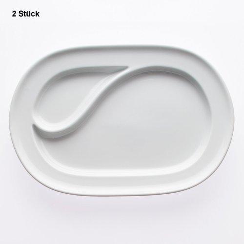 2 St. Platte oval 2-er Einteilung - Serie