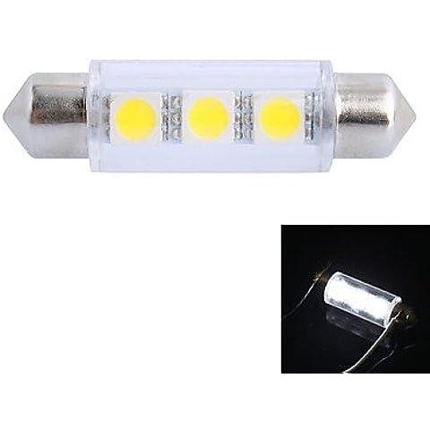FULLModerna lampadina dell'automobile 41 millimetri W 50LM 6000K 3x5050 SMD lettura LED bianco / Targa / Porta DC12V