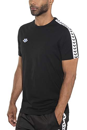arena Team T-Shirt Herren Black-White-Black Größe L 2019 Kurzarmshirt -