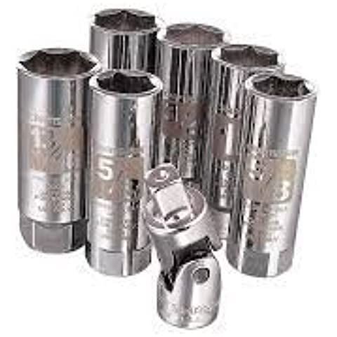 Craftsman 7 Pc. Easy-to-read Spark Plug Sackets Accessory Set. by Craftsman