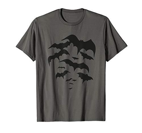 Fliegender Schwarm Fledermäuse - Halloween Bats  - Jungen Silber Disco Kostüm Shirt