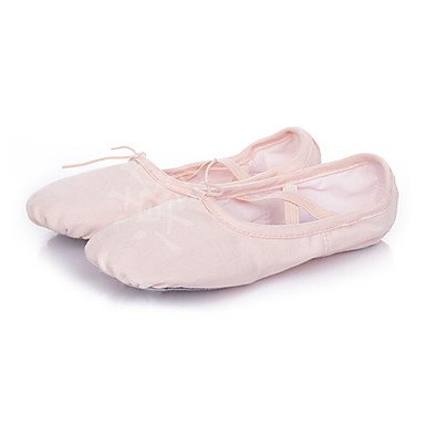 Wuyulunbi @ Femme Ballet Toile Seule Semelle Sneaker Talon Plat Professionnel Rose Rouge Blanc Noir Us8.5 / Eu39 / Uk6.5 / Cn40