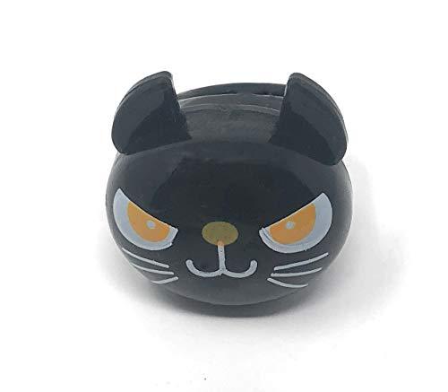 Katze Schwarze Rave Kostüm - UltraByEasyPeasyStore Packungen von 36 Stück Blinkende Schwarz Katze Led Jelly Style Ringe Erwachsene Kinder Partys für Kostüme Raves Beleuchtung Finger Leuchtend