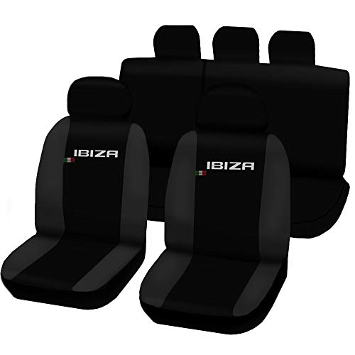 4a Serie (Lupex Shop N.GS Sitzbezüge Seat Ibiza 4A Serie zweifarbig schwarz-dunkelgrau)