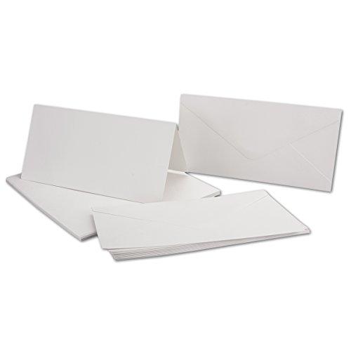 100 Grußkarten Blanko ohne Text NEUTRAL Kuverts NEU Klappkarten 50