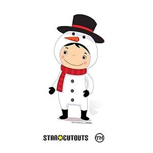 Star Cutouts Ltd SC988 - Figura decorativa de muñeco de nieve de cartón (88 cm), diseño de muñeco de nieve, multicolor