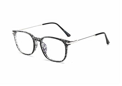 Xinjiener Fashion Unisex Brille für Rahmen Lesebrille Brille Computer TV Strahlung Schutz Brille Sommer für Outdoor Interaction Ins Style (Tusche Black)