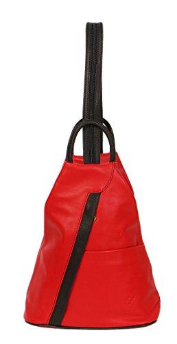 d946050c70b59 malito Damen Rucksack aus Leder Shopper im eleganten Look Tasche mit ...