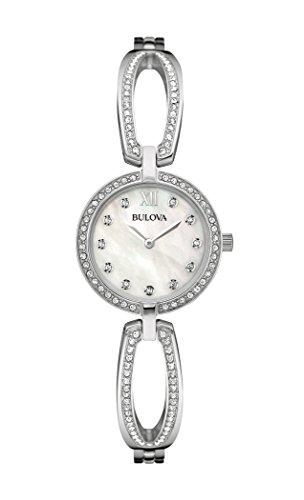Bulova Femme 96l223Cristal Swarovski en acier inoxydable montre