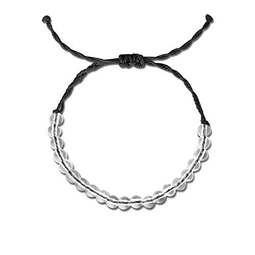 4 Ocean Natürliche Kristall-Perlenarmbänder für Frauen und Herren, handgefertigt, Boho-Freundschaftsarmband, männlicher Schmuck, metall, A4, Einheitsgröße (Manschette Mondstein Armband)