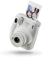 Fujifilm Instax mini 11 Ice White | Fotocamera a sviluppo istantaneo | Modalità Selfie | Esposizione Automatic