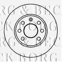 Borg & Beck BBD4858 Brake Disc (A Pair)