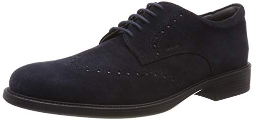 Geox uomo carnaby b, scarpe stringate brouge (navy c4002), 45 eu