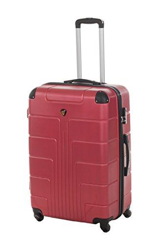 Hartschale Koffer NEW YORK Gr. XL, 75cm, 110 Liter 7 verschiedene Farben (bordeaux)