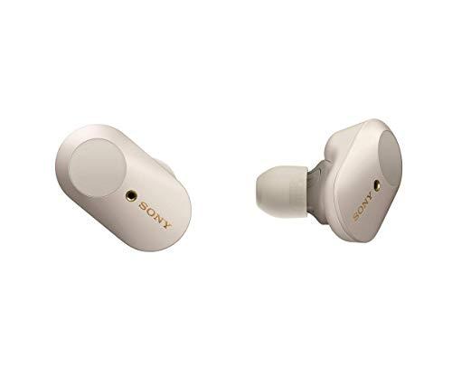 Sony WF-1000XM3 True Wireless Noise Cancelling Kopfhörer (bis zu 32h Akkulaufzeit, stabile Bluetooth Verbindung, Amazon Alexa, komplett kabellose Earbuds incl. Ladecase) silber thumbnail