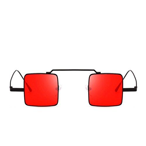 URSING Quadrat Sonnenbrille, Outdoor Sports Brillen Schick Retro Klassische Vintage Sunglass Unisex Travel Sonnenbrille Verspiegelt Sonnenbrille Sommer Eyewear Hippi Brille für Damen Herren (A)