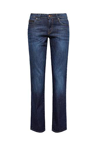 edc by ESPRIT Damen 997CC1B821 Straight Jeans, Blau (Blue Dark Wash 901), W25/L30 -