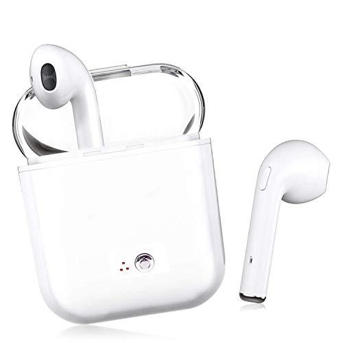 Auriculares inalámbricos Bluetooth, Mini Auriculares con micrófono, Auriculares Resistentes al Sudor con Caja de Carga para Auriculares