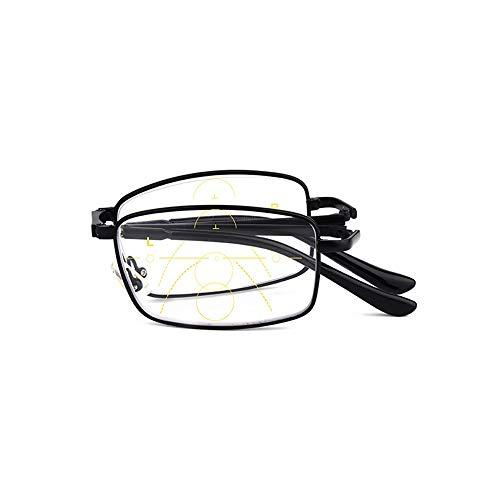 GEMSeven Männer Frauen Faltbare Multi-fokale Lesebrille Falten Smart Zoom Presbyopic Brille
