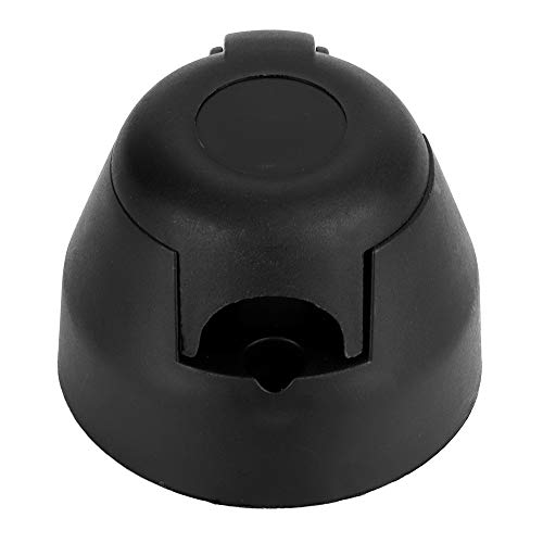 KIMISS Anhängerstecker, 7-polig, 12 V, schwarzer Kunststoff, Kfz-Anhängersteckdose, Adapterstecker, Kfz-Zubehör