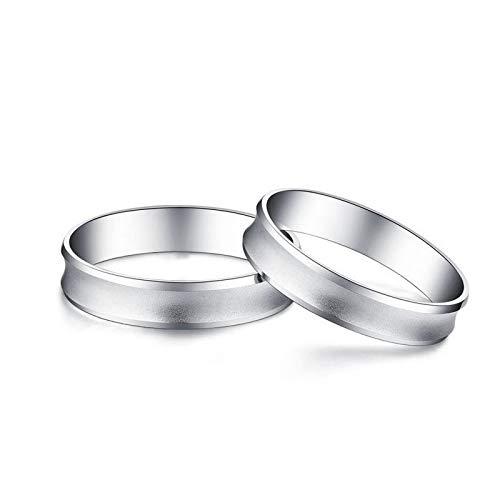 SonMo 950 Platin Diamantring Goldringe Mädchen Hochzeit Ring Eheringe Heiratsantrag Ring Solitärring Silbergröße 60 (19.1)