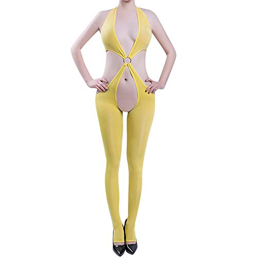 Nahtlose Offenem Schritt Bodystocking (Reasoncool Nachtwäsche Unterwäsche für Frauen,Bodystockings-Bodys mit Offenem Schritt und Dessous)