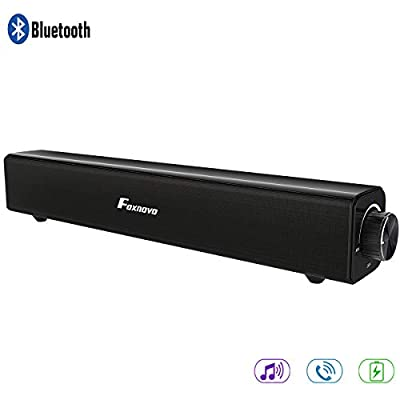 Soundbar, Foxnovo Bluetooth Speaker SoundBar 20W Wired and Wireless Portable Home Theater Bluetooth Speaker Audio Surround Sound Bar for TV, PC, Cell Phone, Tablets Projector or Wireless Devices from Foxnovo