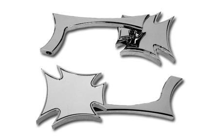 Specchietti Croce Maltese cromo Per Harley Davidson Sportster, Dyna, Softail e Custom