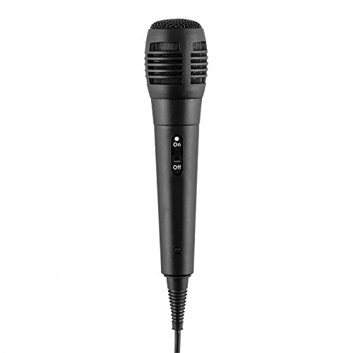 auna DiscoFever • Karaoke Anlage • Karaokeplayer • Karaoke Set • Bluetooth • 7 Zoll TFT-Display • 1 x dynamisches Mikrofon • LED-Effekte • CD+G-Player • USB-Port • Echo-Effekt • A.V.C. Funktion • Video-Ausgang • AUX-Eingang • Aufnahmefunktion • schwarz - 7