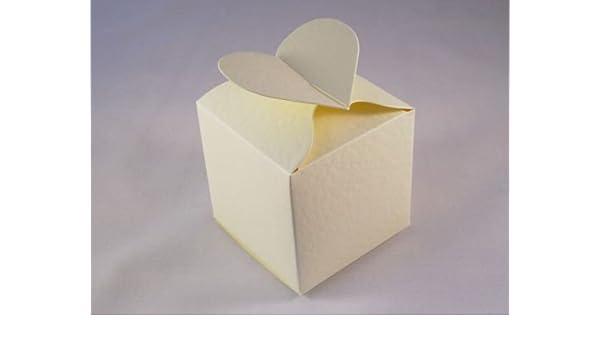 20 X Hammered Cream Box Bag Wedding Favour Boxes Stella Crafts Best