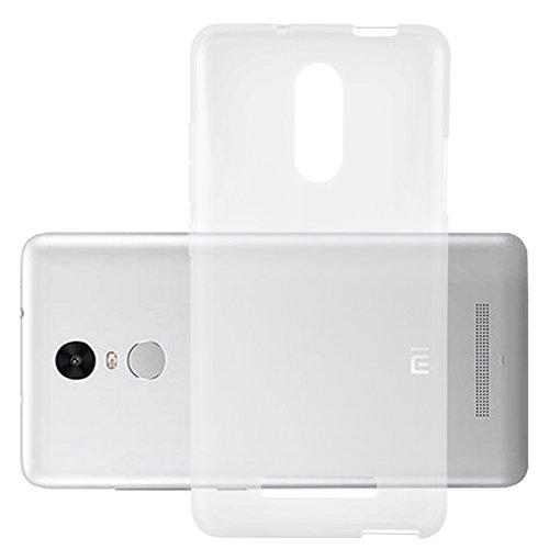 Cadorabo Hülle für XIAOMI RedMi Note 3 - Hülle in VOLL TRANSPARENT – Handyhülle aus TPU Silikon im Ultra Slim 'AIR' Design - Silikonhülle Schutzhülle Soft Back Cover Case Bumper