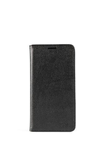 mosh® Lenovo Vibe X3 Hülle Schwarz, Mobilefashion, Ledertasche PU Leder, Tasche Schutzhülle, Case Cover mit Standfunktion, Magnetischen Flip-Design