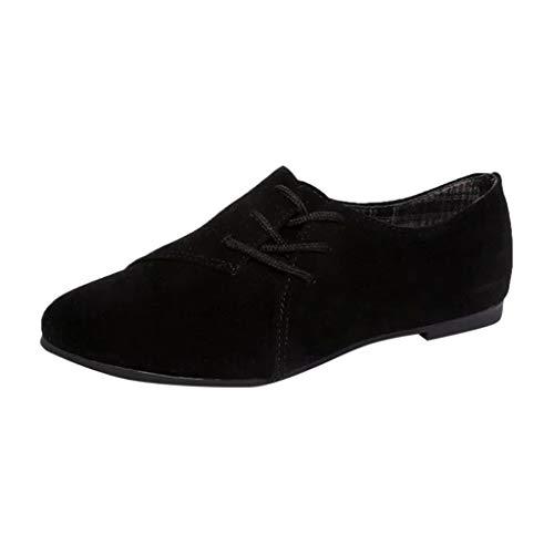 Make Fortune 2019 Damen Retro Damenschuhe Schnürschuhe Freizeitschuhe Flache Unterseite Einzelne Schuhe Damenschuhe Bequeme Spitze Schuhe des Segeltuchretro-Trends