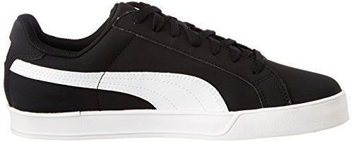Puma Smash Vulcanised, Chaussures de Tennis Mixte Adulte Noir (Black/White 09)