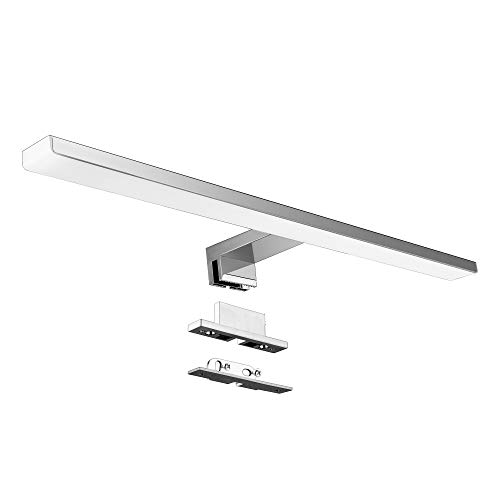 Lámpara de Espejo Baño 10W 820lm 50cm Aourow,Blanco Neutro 4000K Luz Espejo,Impermeable...