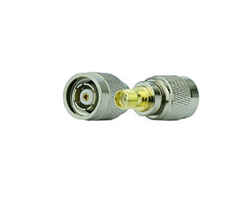 2geerxin Koaxial-Adapter RP-TNC Stecker auf SMA Buchse Adapter gerade Antenne Stecker