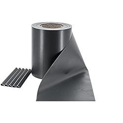 ILESTO PVC Sichtschutzstreifen für Zäune – Sichtschutz für Ihren Gartenzaun, 35m – Anthrazit (RAL 7016)