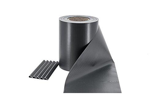 ILESTO PVC Sichtschutzstreifen für Doppelstabmatten - Sichtschutz für Ihren Gartenzaun & Doppelstabmattenzaun, 35m - Anthrazit (RAL 7016)