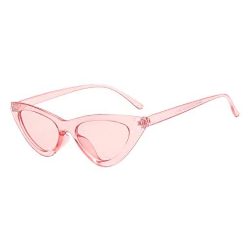 FGRYGF-eyewear Sport-Sonnenbrillen, Vintage Sonnenbrillen, NEW Cute Sexy Retro Cat Eye Sunglasses Women Black White Triangle Vintage Cheap Sun Glasses Female UV400 Pink
