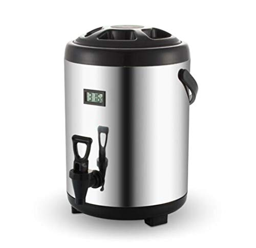 JSHFD Catering-Urne Warmwasserboiler Tee-Urne 6L / 8L / 10L / 12L for das Brauen zu HauseKommerzielle oder BüronutzungEdelstahl Kochen & Essen (Color : Black, Size : 6L) -