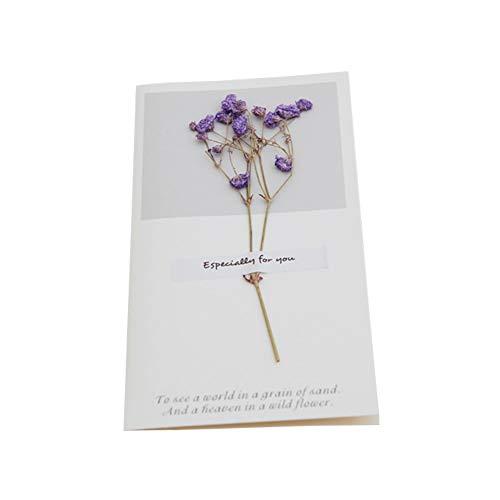 Getrocknete Blumen Grußkarten Handgefertigte Einladungskarten für Geburtstag Hochzeit Thanksgiving Anniversary Valentinstag