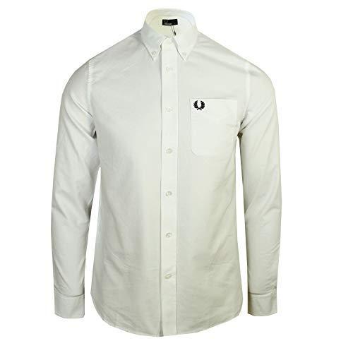 Fred perry uomo camicia oxford classica bianco s