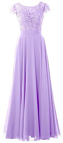 MACloth - Robe - Trapèze - Manches Courtes - Femme Violet - Lavande