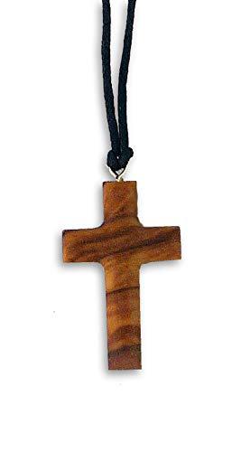 Olivenholz-Kreuz zum Umhängen, ca.3x2cm, mit Band
