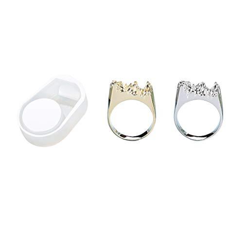n Gießformen 3 Teile/Satz UV Kristall Epoxy DIY Ring Silikonform Gebrochen Berg Modellierung Kreative Handgemachte Material ()